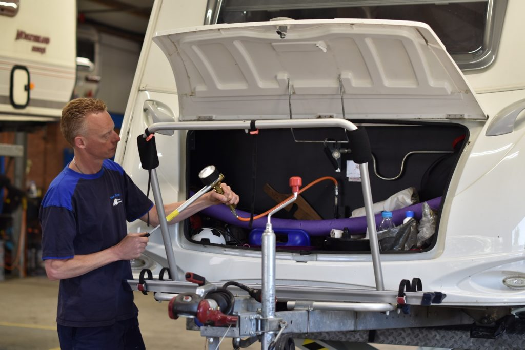 Onderhoud dienst van Caravan Stalling van Vliet
